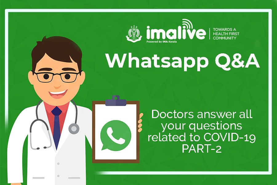 IMAlive COVID-19 Whatsapp Q&A  Answers to your questions  Part 2
